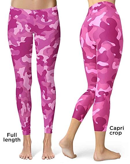 Pink Camo Camouflage Leggings