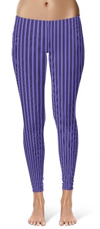 Classic Purple Pin Stripe Leggings