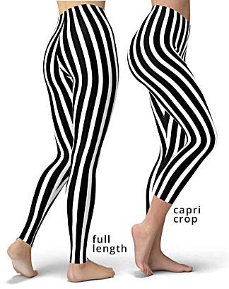 black white stripes referee stripe leggings legging