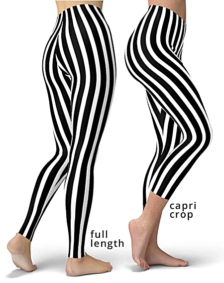 black white stripes referee stripe leggings legging