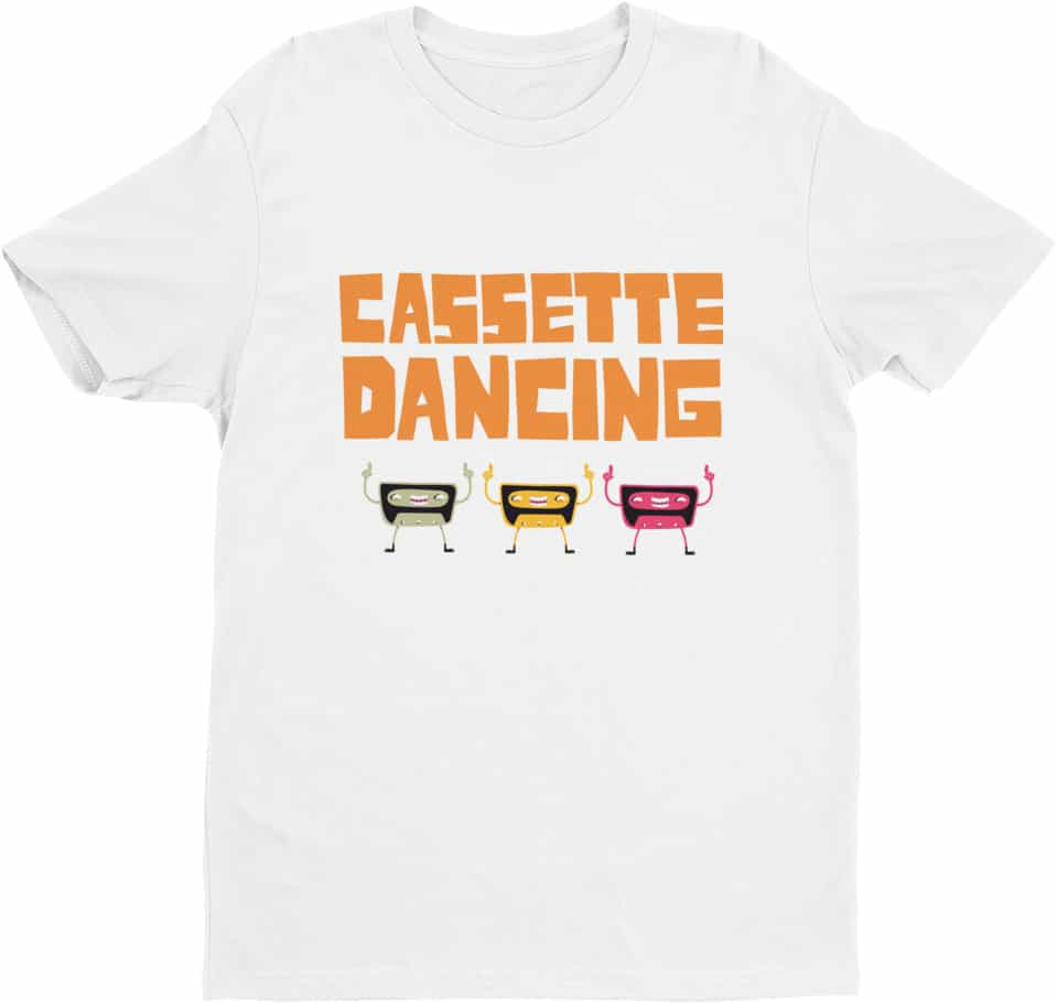 Retro Cassette Dancing Tshirt - Tees for Men by Squeaky Chimp