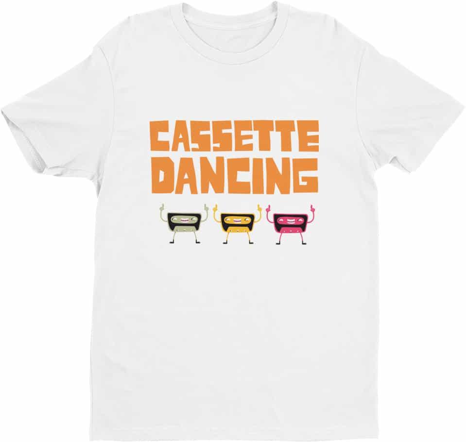 retro-cassette-dancing-tshirt-for-men-white