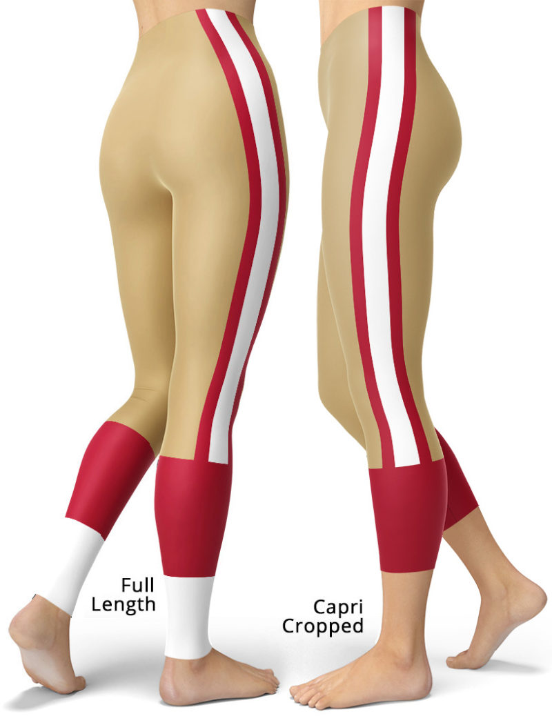San Francisco 49ers Leggings NFL Pants Tailgating