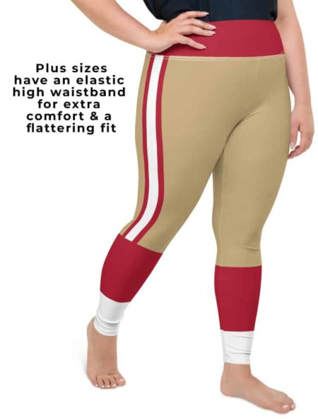 San Francisco 49ers Sports Football Uniform Leggings