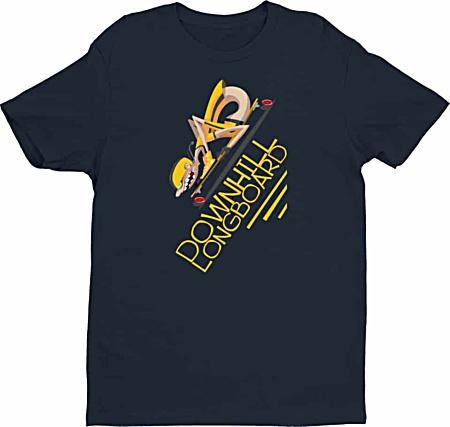 Downhill Longboard Skateboard Tshirt for Men
