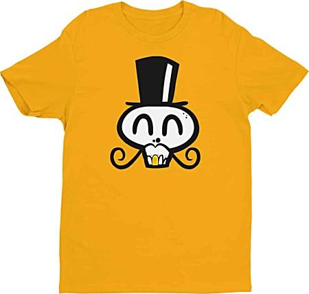 Cool skull tshirt gold tooth pirate shirt