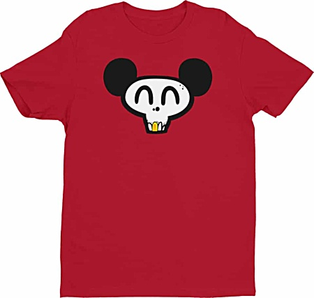Cool mickey mouse skull tshirt gold tooth