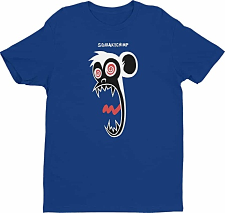Crazy chimpanzee monkey tshirt mens