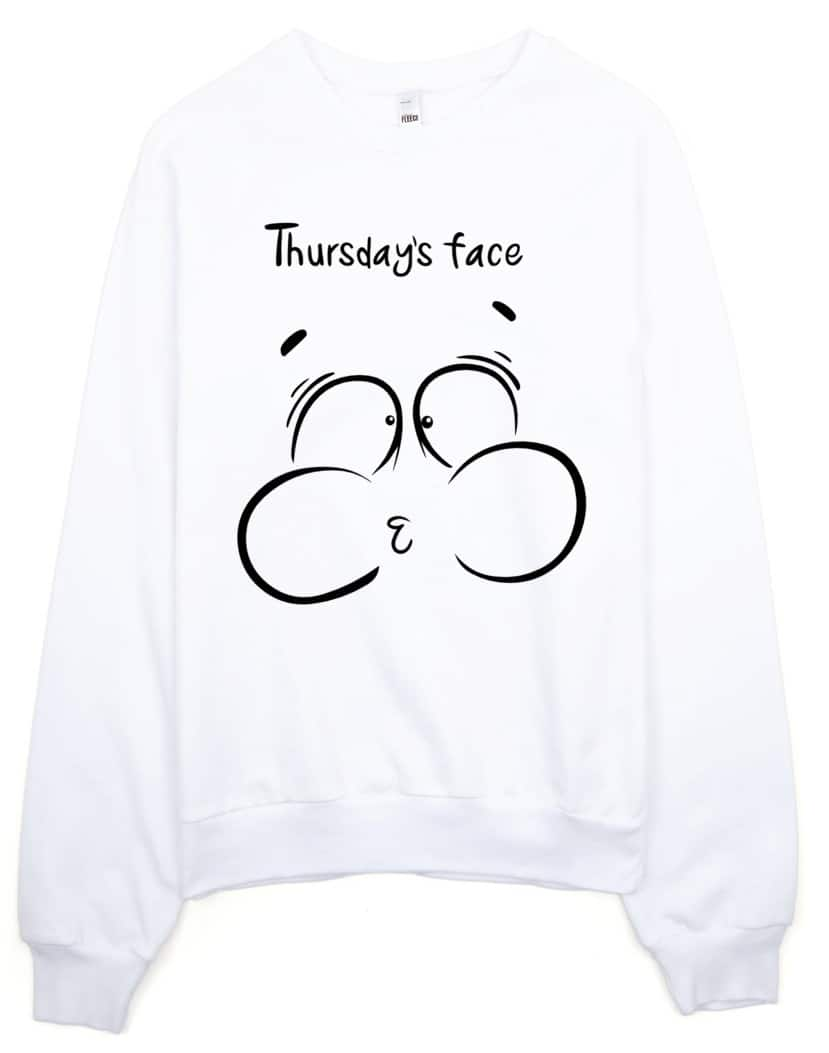 thursday-face-sweatshirt-white
