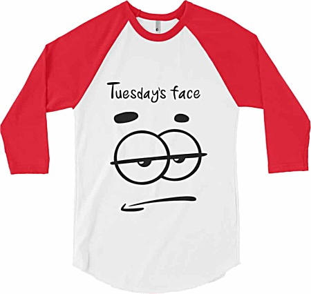 Tuesday Tshirt - Days of the week tshirts from Squeaky Chimp