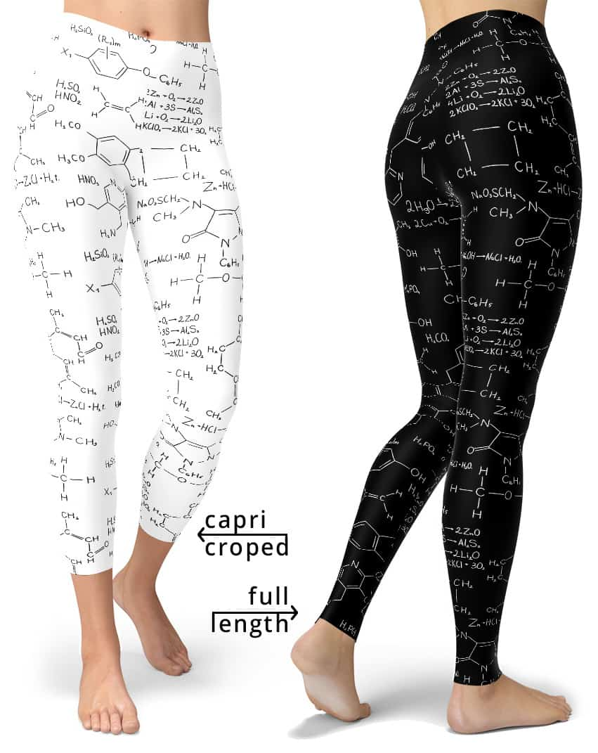 Chemistry formula leggings - Gifts for science geeks