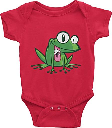 Baby Onesie with frog cartoon