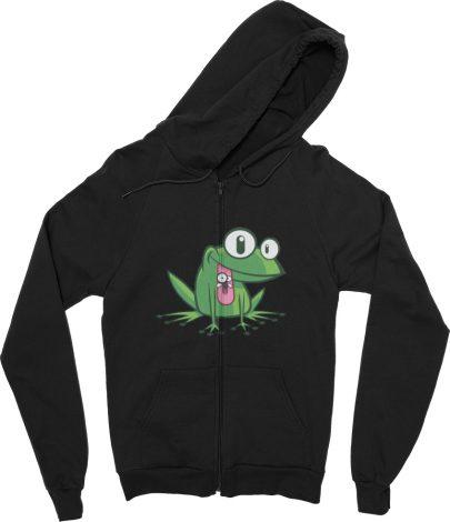 Frog hoodie with Zipper