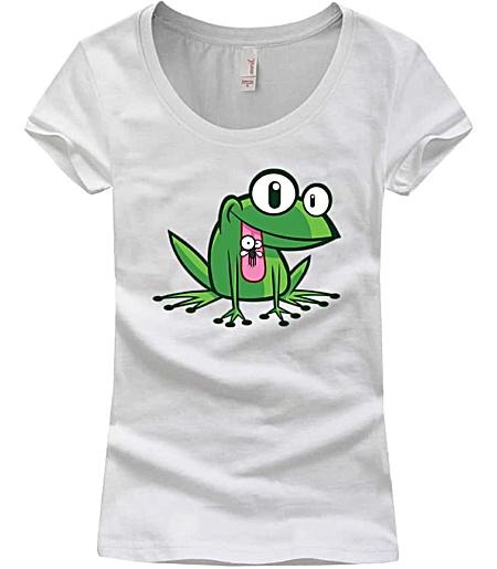 Girls scoop neck frog tshirt