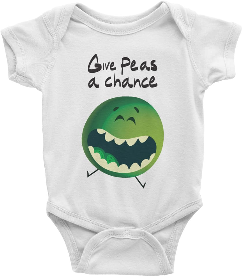 Give Peas A Chance Baby Clothing Onesie