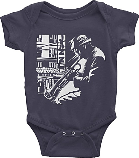 Jazz Trumpet Player – Short Sleeve Onesie