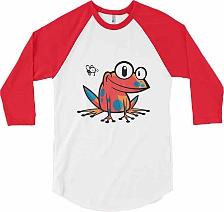 Poison Frog – Long Sleeve Baseball T-Shirt