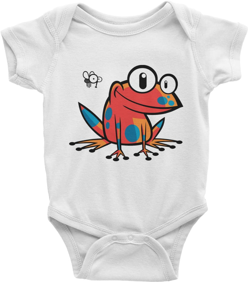 poison-frog-onesie-baby-clothing-white