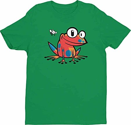 Poison Dart Frog Tshirt - Tees for Men by Squeaky Chimp