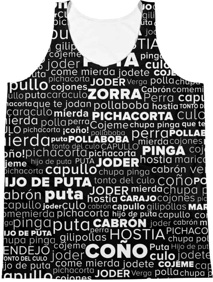 Spanish Swear Words - Unisex Tank Top