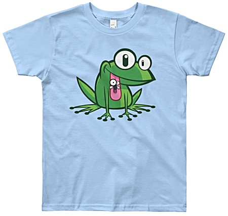Kids tshirt with frog cartoon design