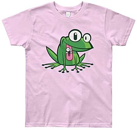 Kids tshirt with frog cartoon design