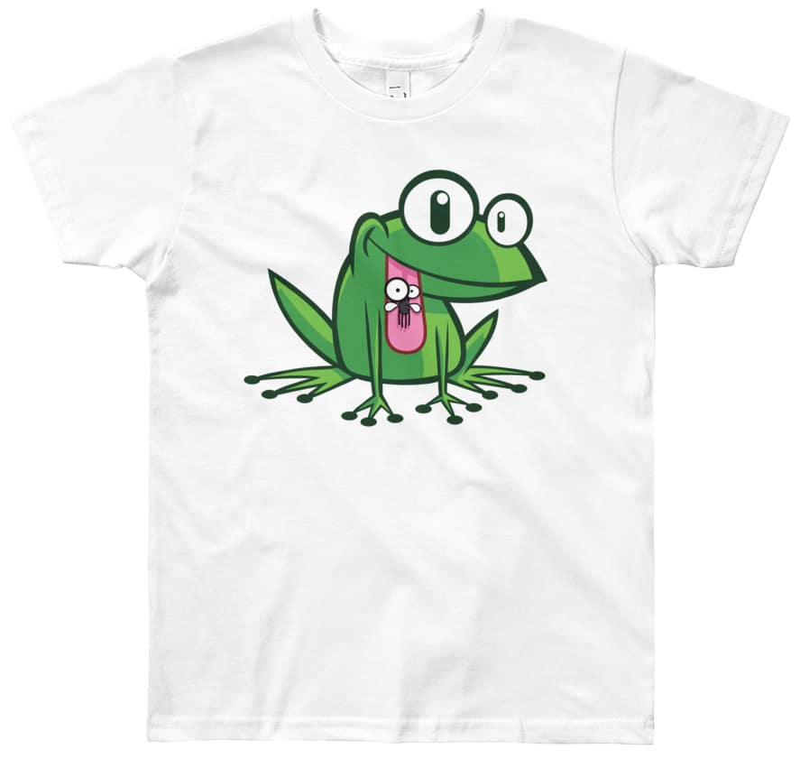 youth-green-frog-tshirt-for-kids