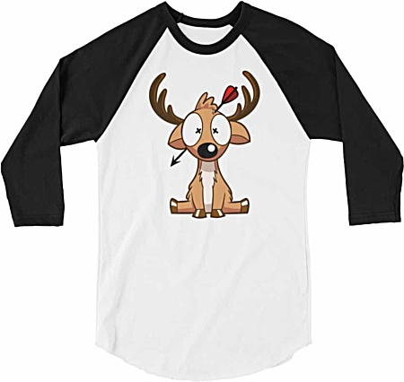 Deer Hunting Baseball Tshirt