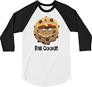 Bad Cookie - Funny Baseball Tshirt