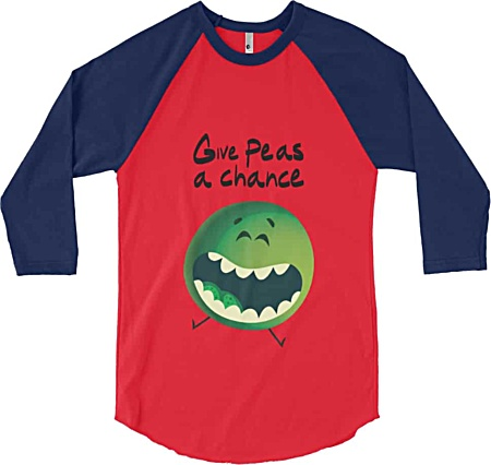 Give peas a chance - funny tshirt by Squeaky Chimp