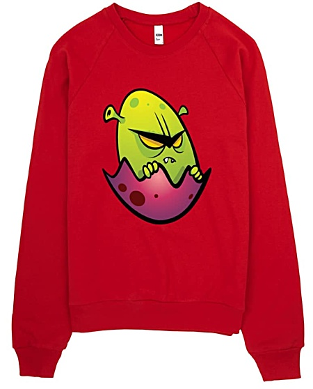 Alien Egg Designer Sweatshirt