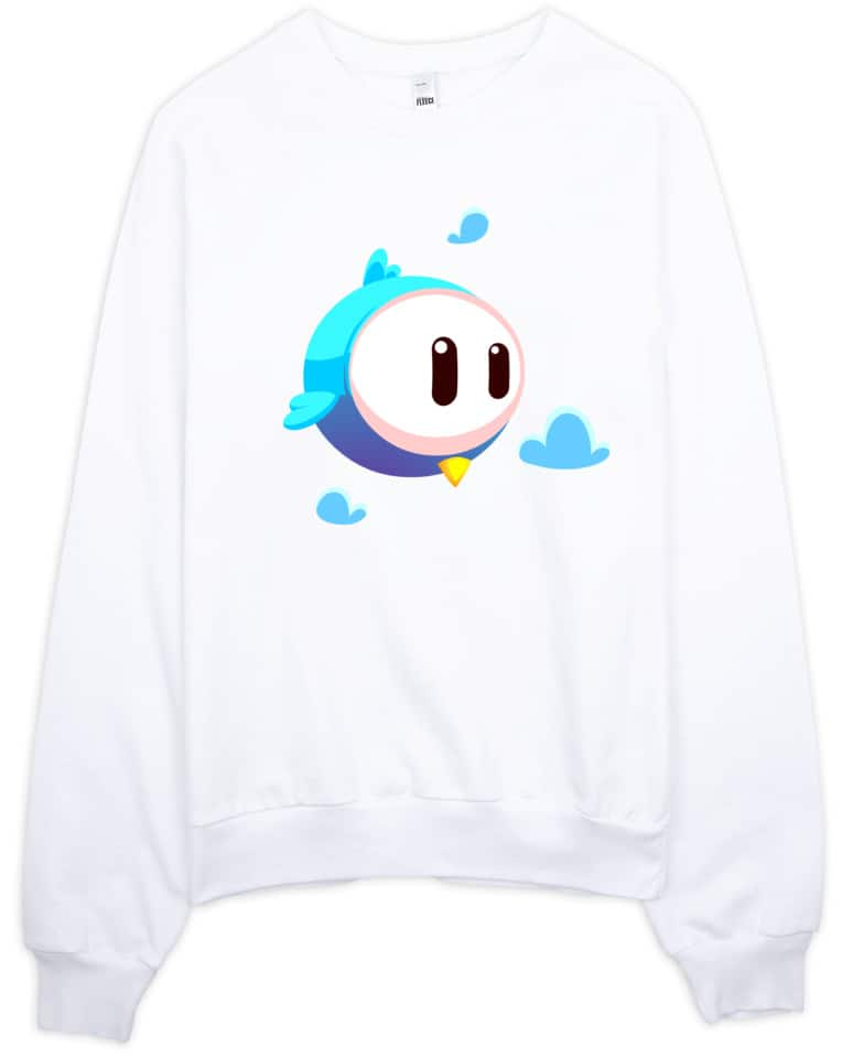 Big Eye Bird Designer Sweatshirt Printed on American Apparel