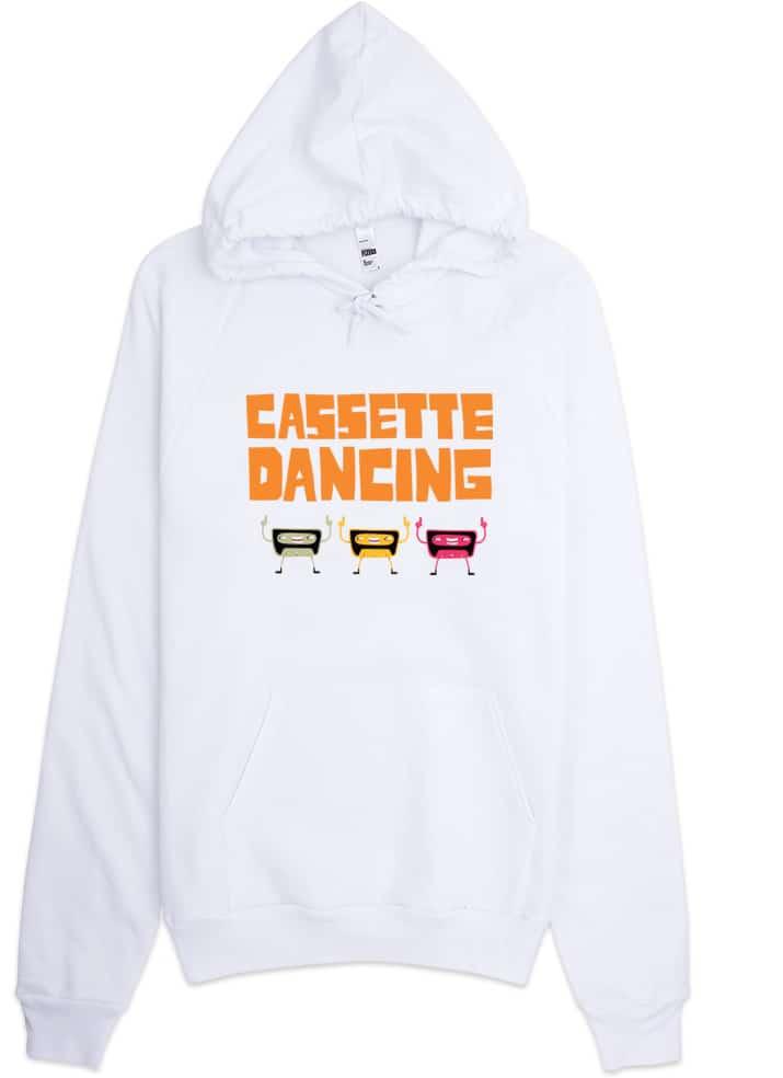 Casette Dancing Retro Hoodie