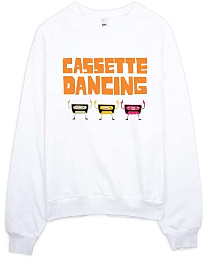Casette Dancing Retro Sweatshirt