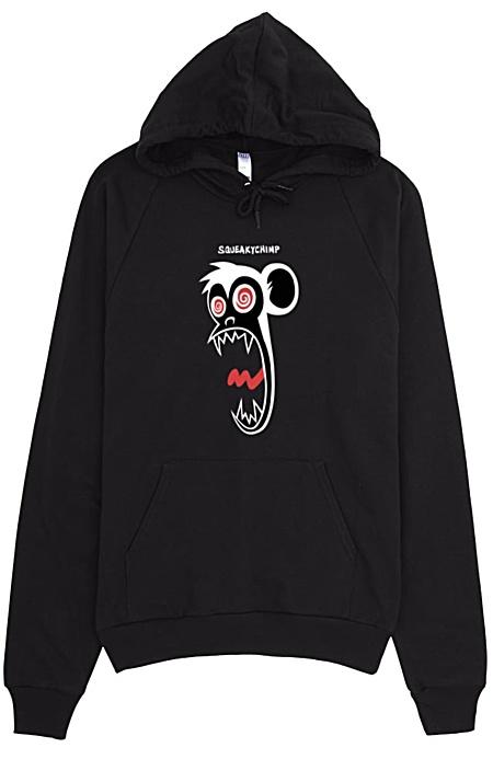 Squeaky Chimp Crazy Monkey Hoodie