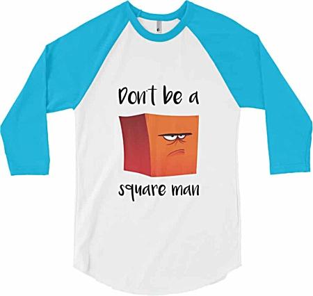 Don't be a square man - Baseball t-shirt - blue