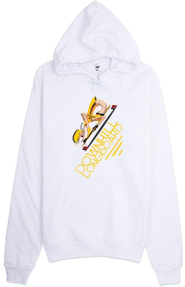 Downhill Longboard Skater Hoodie Sweatshirt
