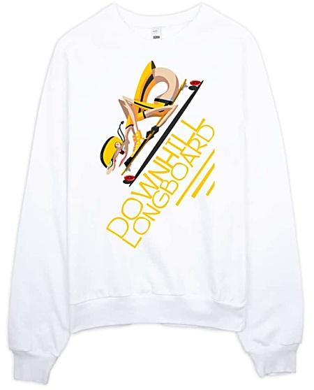 Downhill Longboard Skater Sweatshirt
