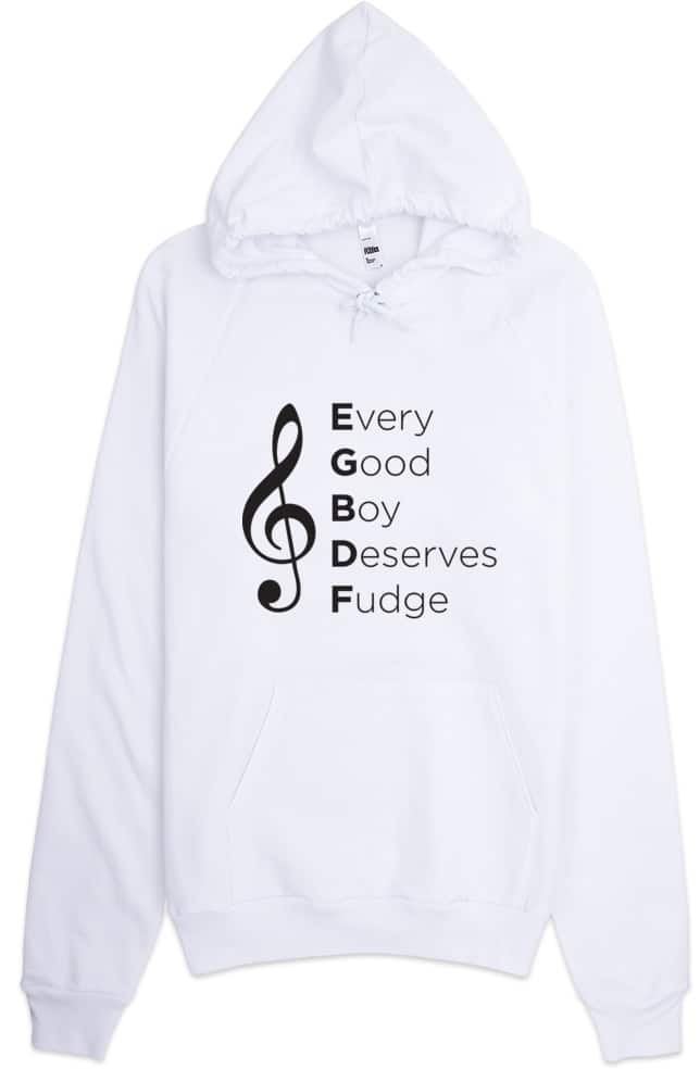 Every Good Boy Deserves Fudge Music Hoodie