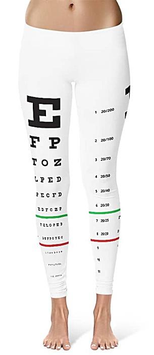 snellen eye chart leggings optometrist eye doctor