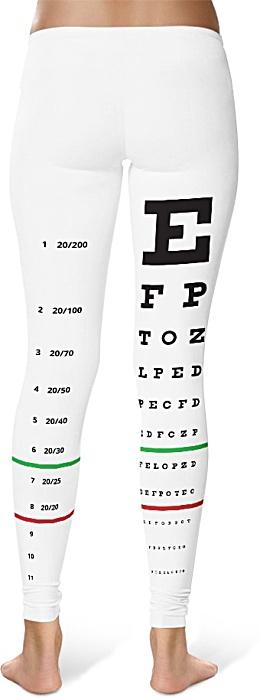 snellen eye chart leggings