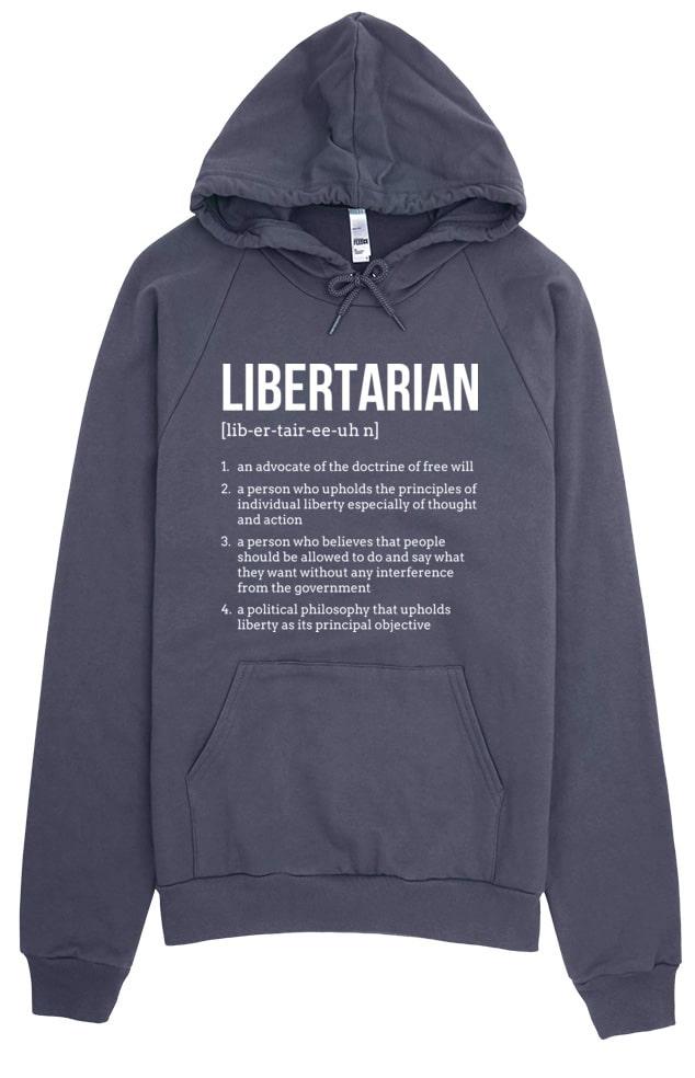 Political Libertarian Hoodie Sweatshirt