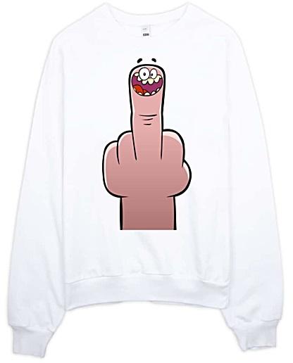 Middle Finger Rude Sweatshirt