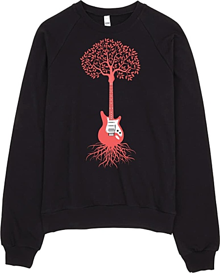 Guitar Sweatshirt American Apparel