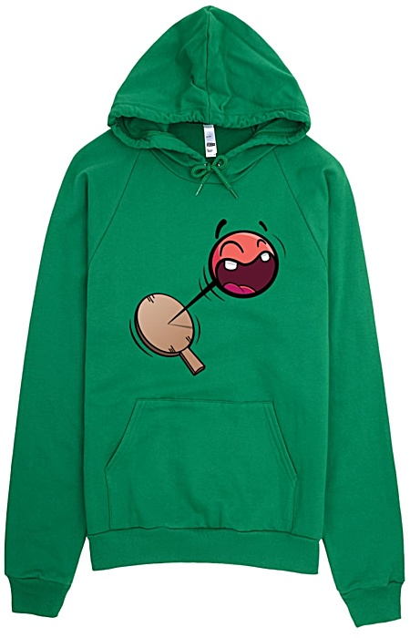 Retro Paddle Ball Sweatshirt Hoodie American Apparel