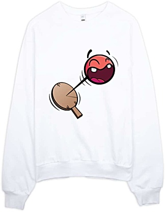 Retro Paddle Ball Sweatshirt American Apparel