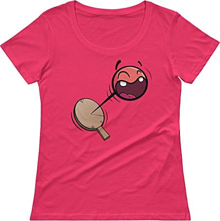 Retro Paddle Ball Tshirt - Ladies Shirt