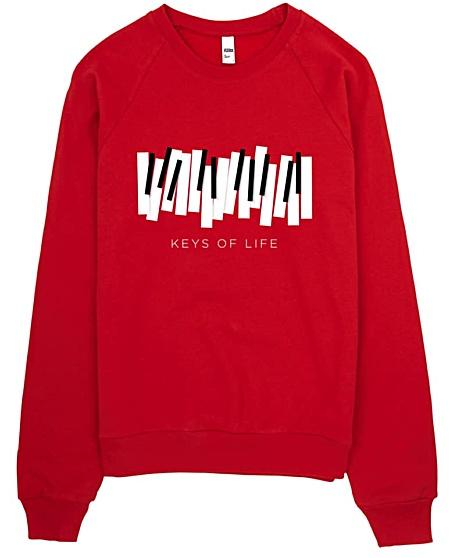 Piano Keys Sweatshirt for Musicians