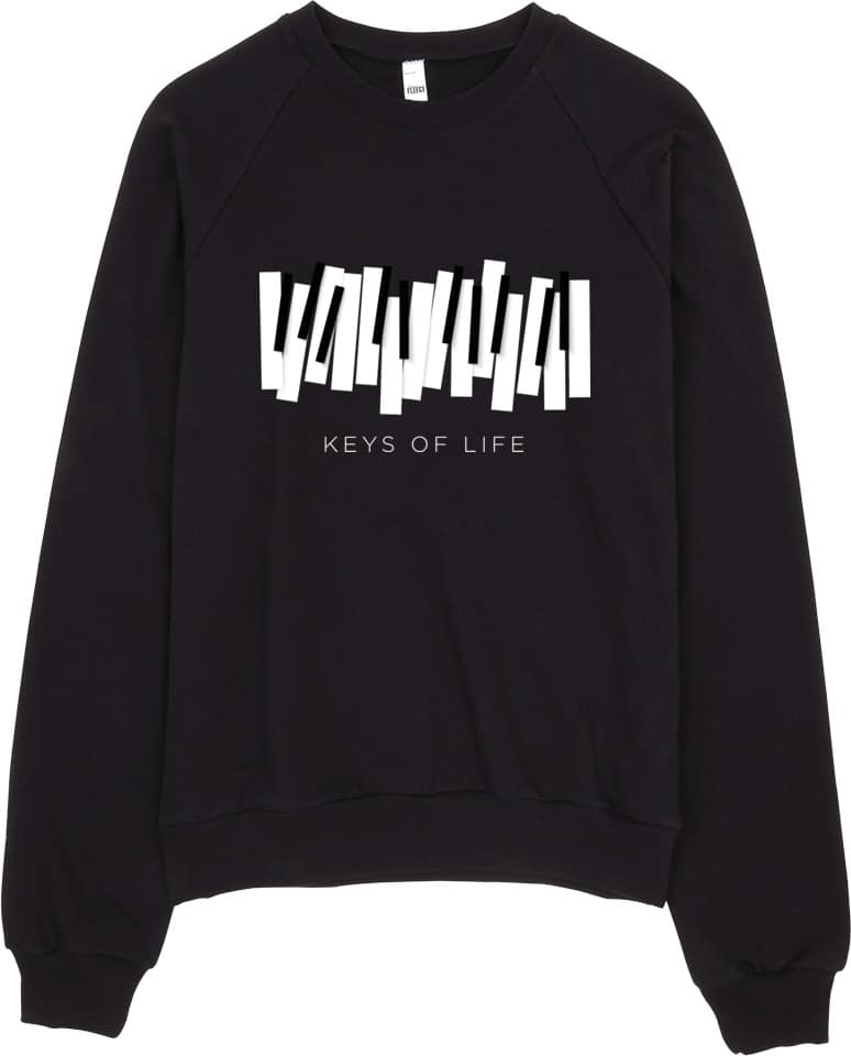 Piano Keys Sweatshirt for Musicians