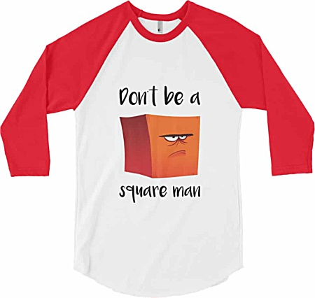 Don't be a square man - Baseball t-shirt - red